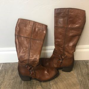 Clark's brown leather boots size 9M